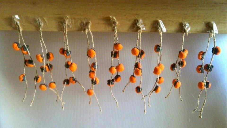 干し柿ストラップ